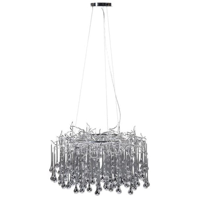 Silver Glass Droplet Chandelier