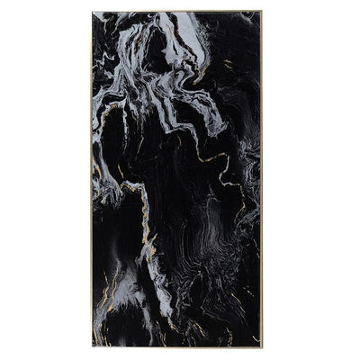 Black Marble Effect Wall Art