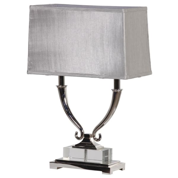 Scrolled Twin Arm Table Lamp
