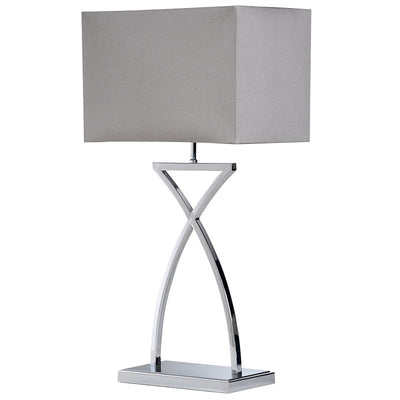 Curved X base Lamp With Shade