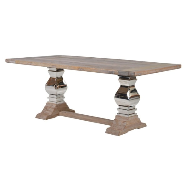 Cambridge Wooden Dining Table with Steel Legs