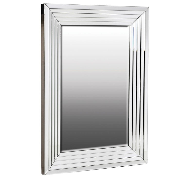 Rectangle Stepped Edge Wall Mirror