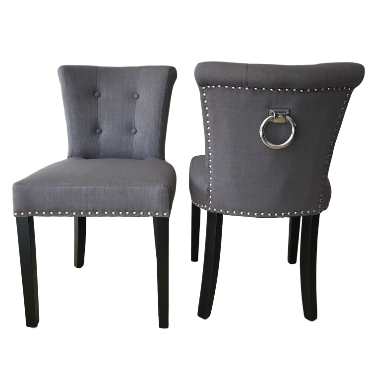 Madrid Low Ringback Linen Dining Chair