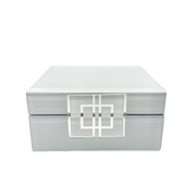 White Glass Jewel Box