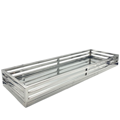 Long Rectangle Mirrored Tray