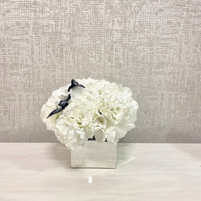 Sml Square Mirrored Hydrangea Bowl