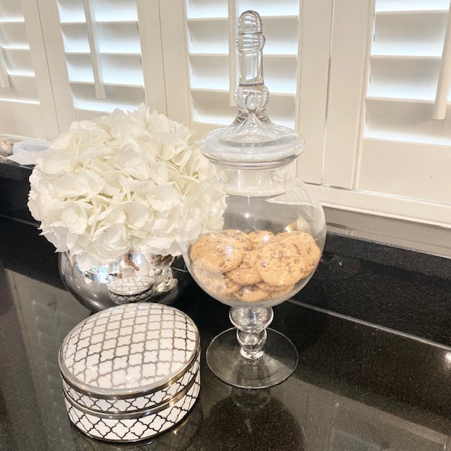 Oval Glass Bonbon Jar