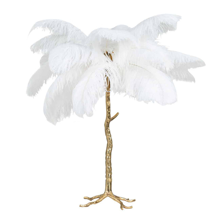 Burlesque White Table Lamp