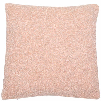 Tactile Faux Lambswool Cushion - Blush