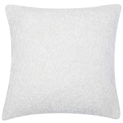 Tactile Faux Lambswool Cushion - White