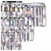 Empire Chrome 5 Light Chandelier With Crystals