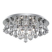 Hanna Flush Light with Diamond Shape Crystals