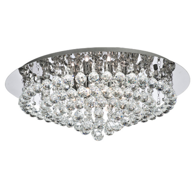 Hanna Flush Light with Crystal Balls