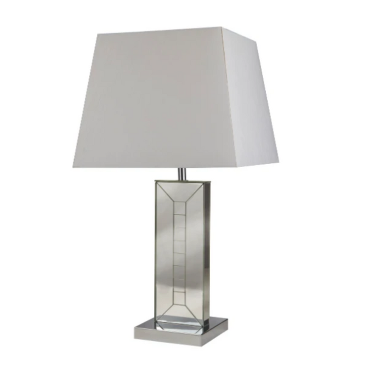 Otto Glass Mirrored Base Table Lamp