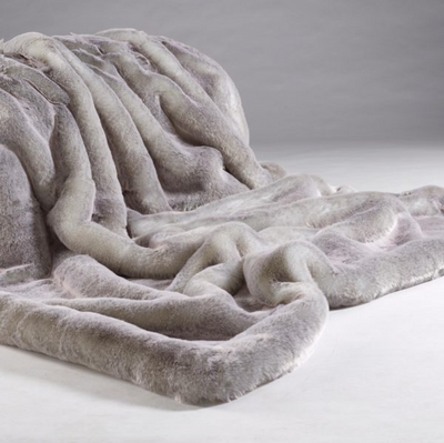 Silver Alaska Fur Throw