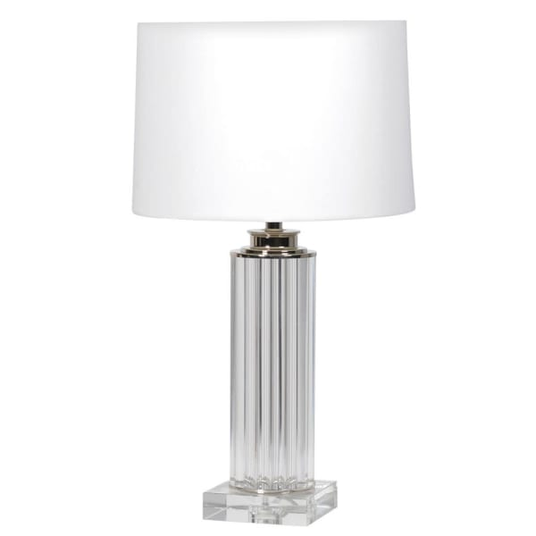 Dijon Lamp With White Shade