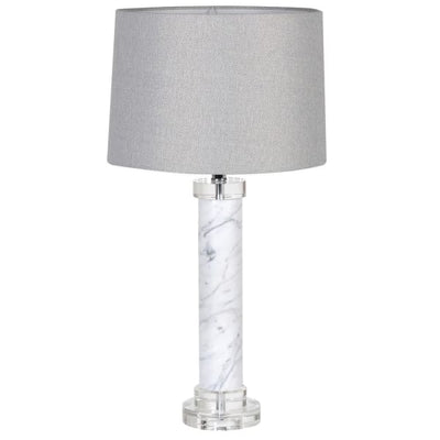 Marble Column Table Lamp