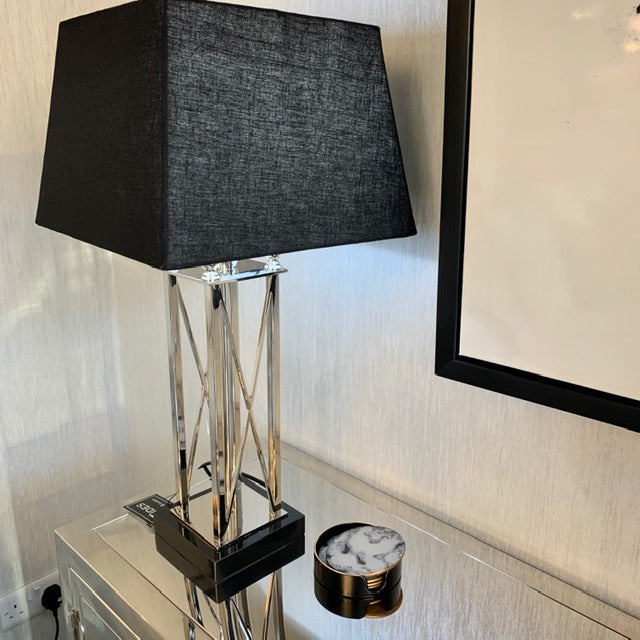 Metal Cross Style Table Lamp