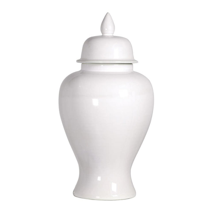 White Gloss Ginger Jar