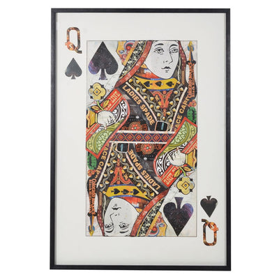 Queen of Spades Decoupage Art
