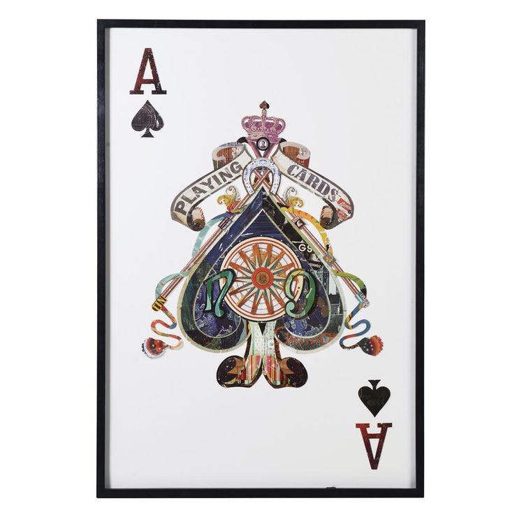 Ace of Spades Decoupage Art