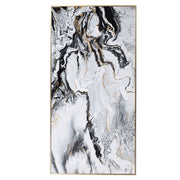 White Marble Effect Wall Art