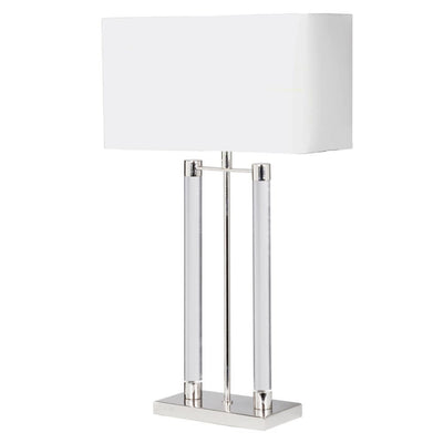 Twin Acrylic Pillar Table Lamp