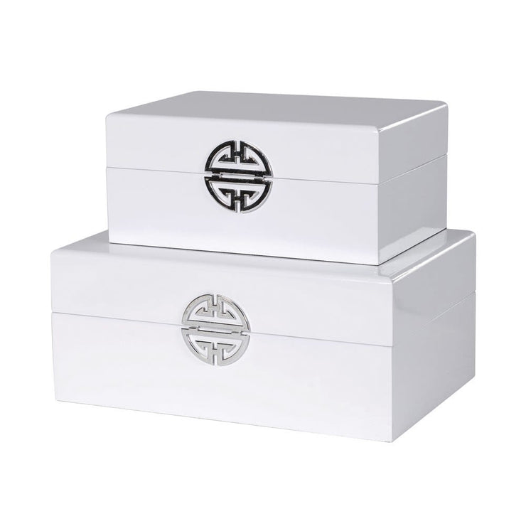 White Gloss Storage Boxes