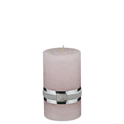 Sml Powder Rustic Pillar Candles