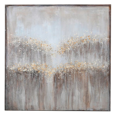 Grey & Gold Textured Oil Painting