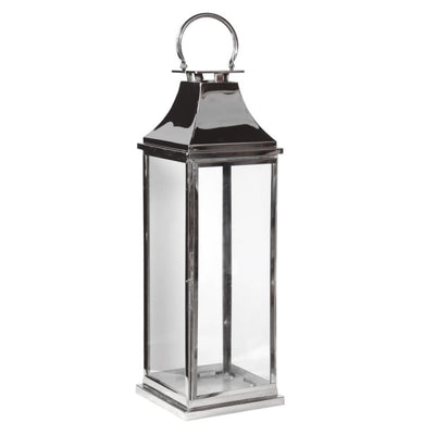Shiny Chrome & Glass Lantern