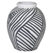 Large Ceramic Striped Vase