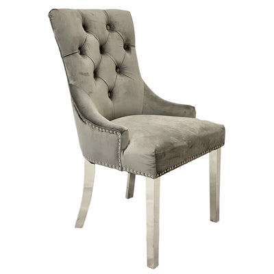 Chester Grey Velvet Dining Chair