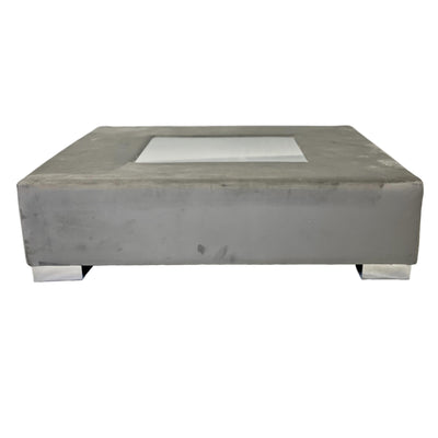 Palma Grey Velvet Coffee Table