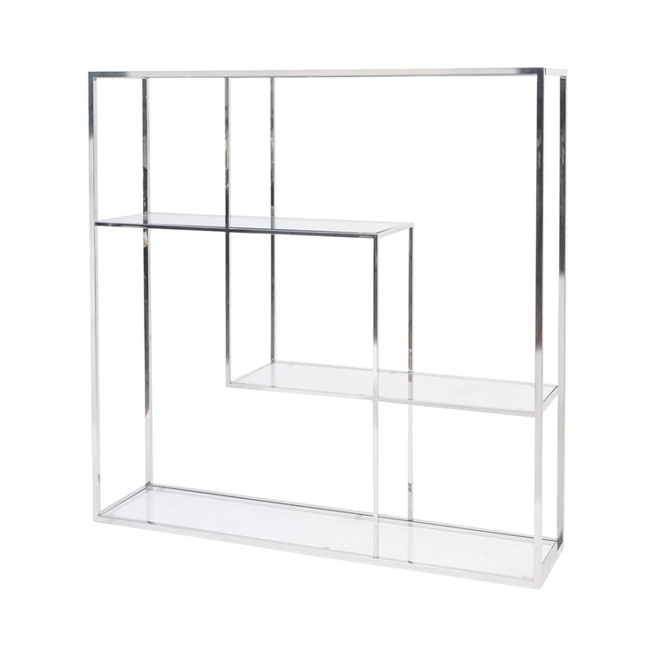 Libra Linton Stainless Steel and Glass Modular Display Unit
