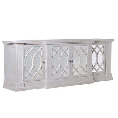 Adrianna Grey Washed Mirrored Sideboard