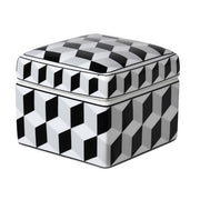 Patterned Black & White Trinket Jar