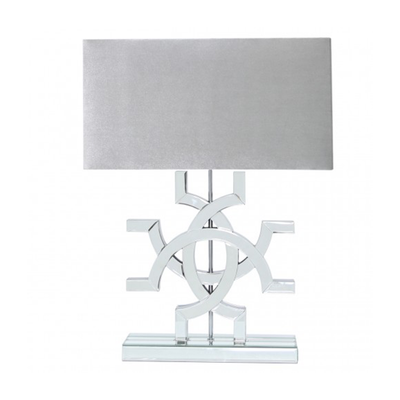 Patterned Mirrored Lamp