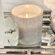 Silver Diamanté Candle