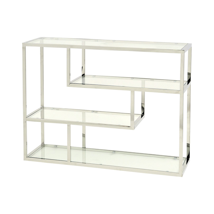 Libra Linton Stainless Steel and Glass Shelving Unit