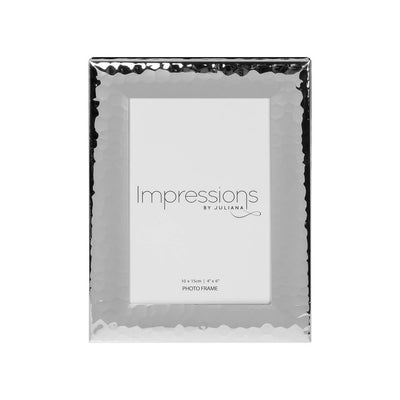Silver Hammered Photo Frame