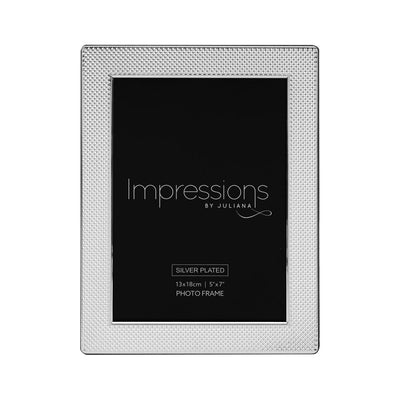 Silver Textured Pattern Photo Frame