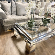 Mario Large Chrome Coffee Table
