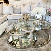 Set of 2 Hawaii Round Coffee Tables