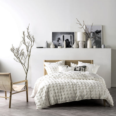 Haze White Spotted Bedding