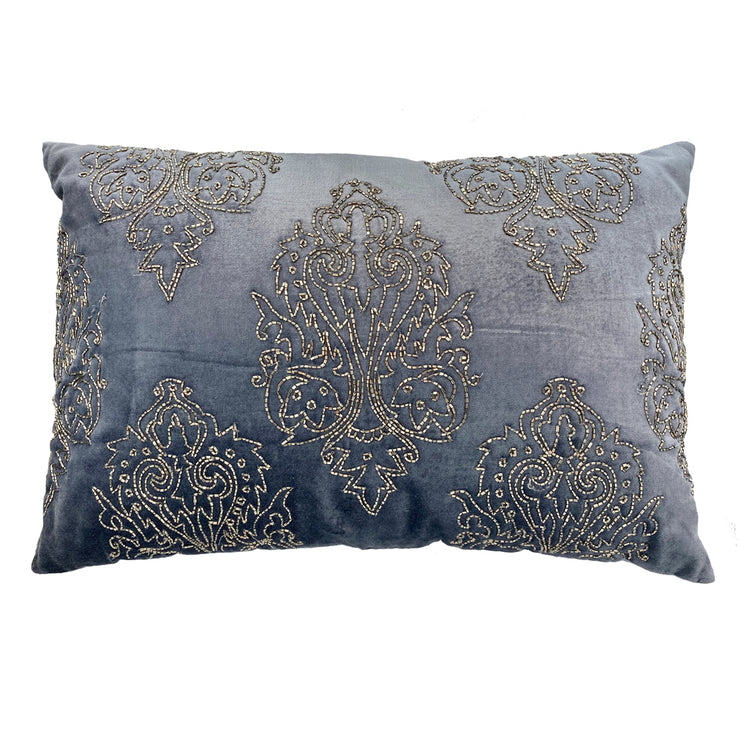 Madison Hand Beaded Midnight Cushion