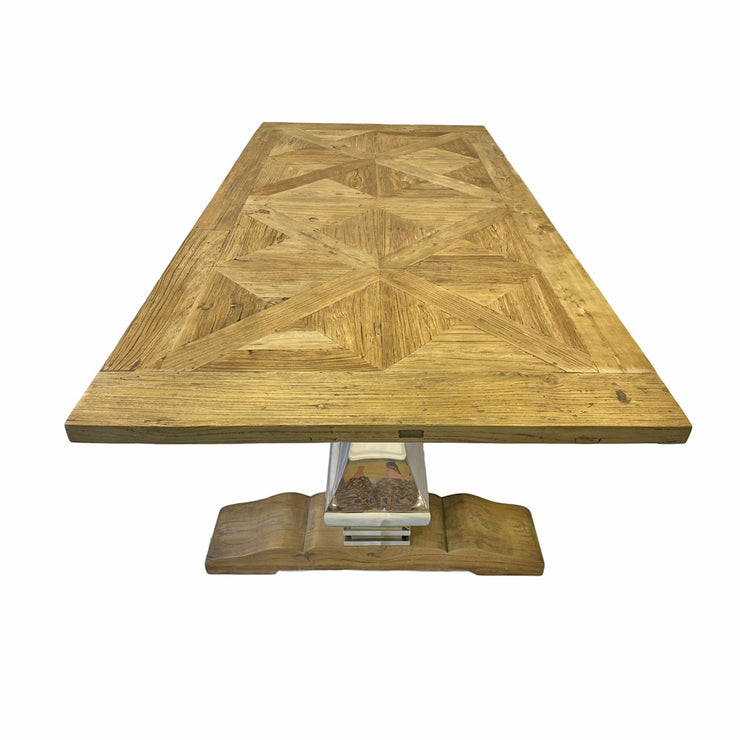 Eton Wooden Table with Metal Leg