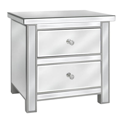 Redditch Plain Glass Bedside Table