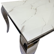 Remy White Marble Dining Table