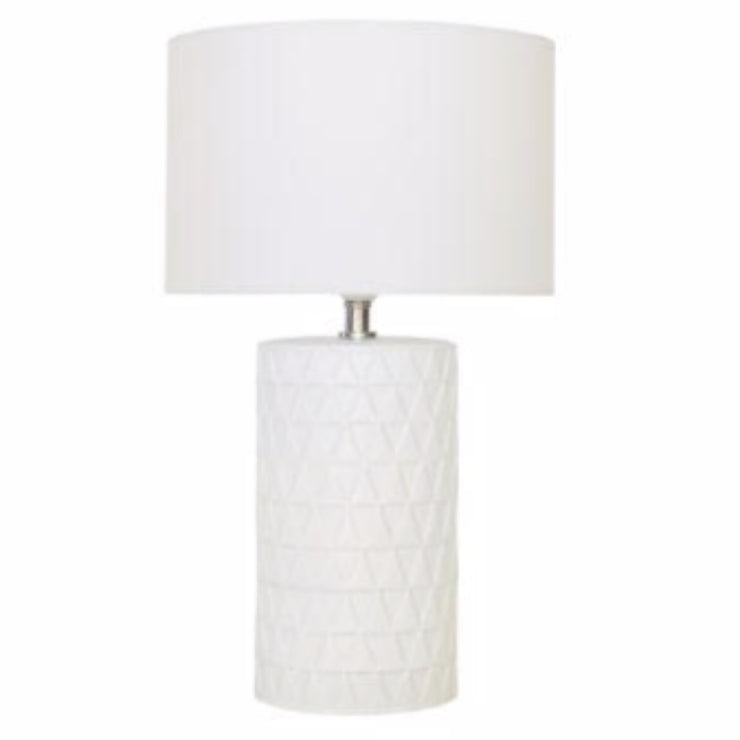 Ember Matte White Ceramic Table Lamp